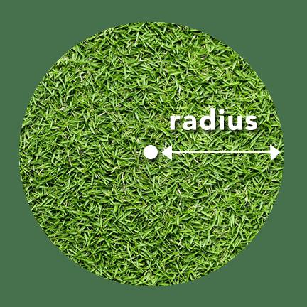 sod circle radius